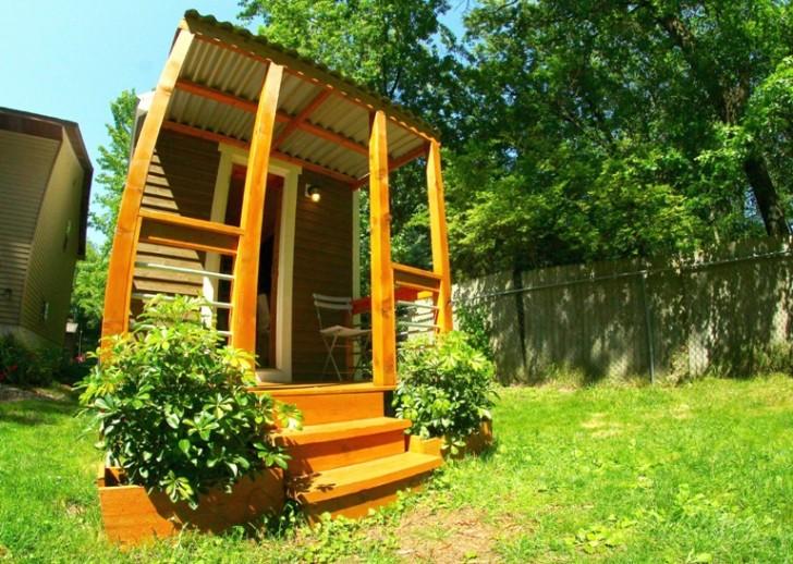 Esta pequena casa é naturalmente resistente ao fogo, água, pragas e condições climáticas extremas.
