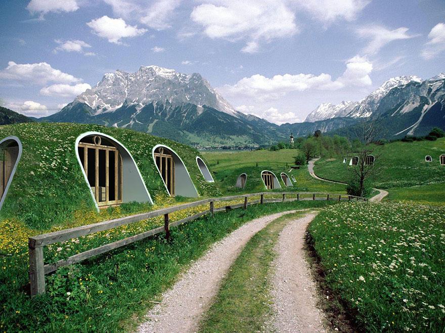 Empresa cria casas-hobbit que podem ser montadas em 3 dias