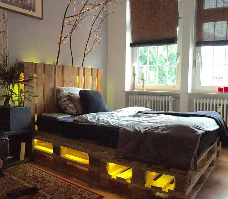 Faça você mesmo: cama iluminada reutilizando pallets