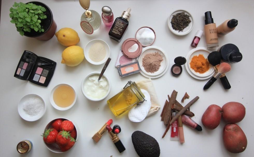 maquiagem a base de produtos naturais