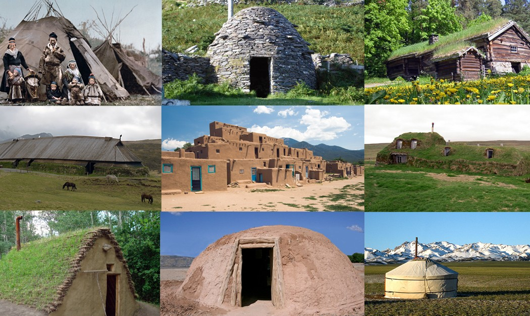 12 casas ancestrais para compreender a bioconstrução