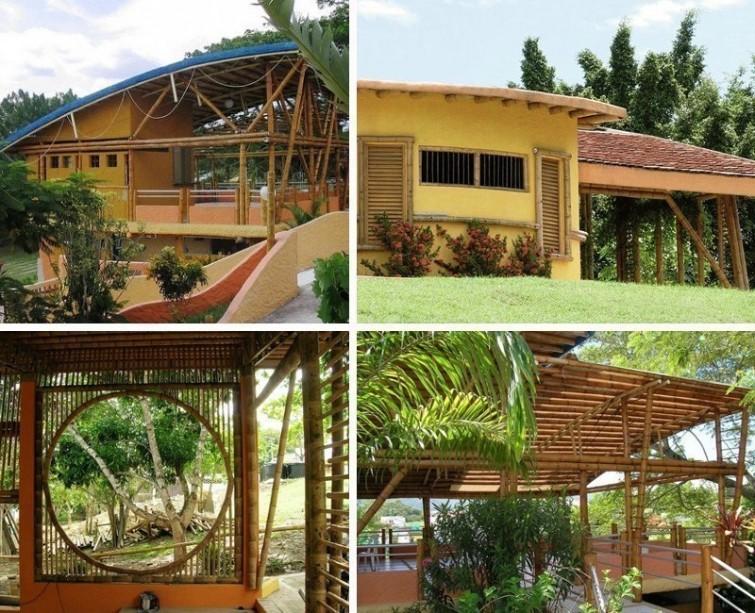 Casas ecológicas construídas à mão