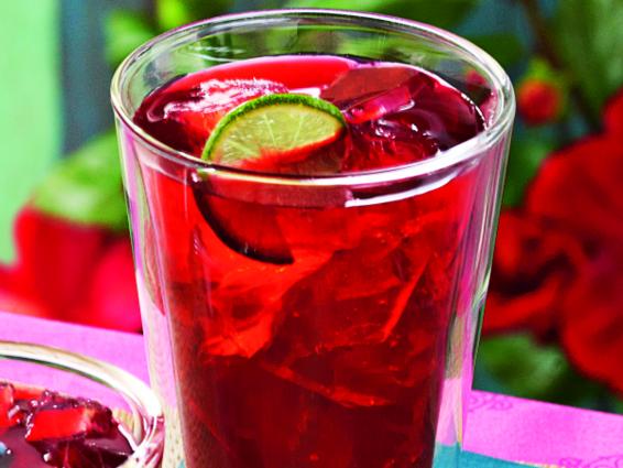 Chá mojito de hibisco