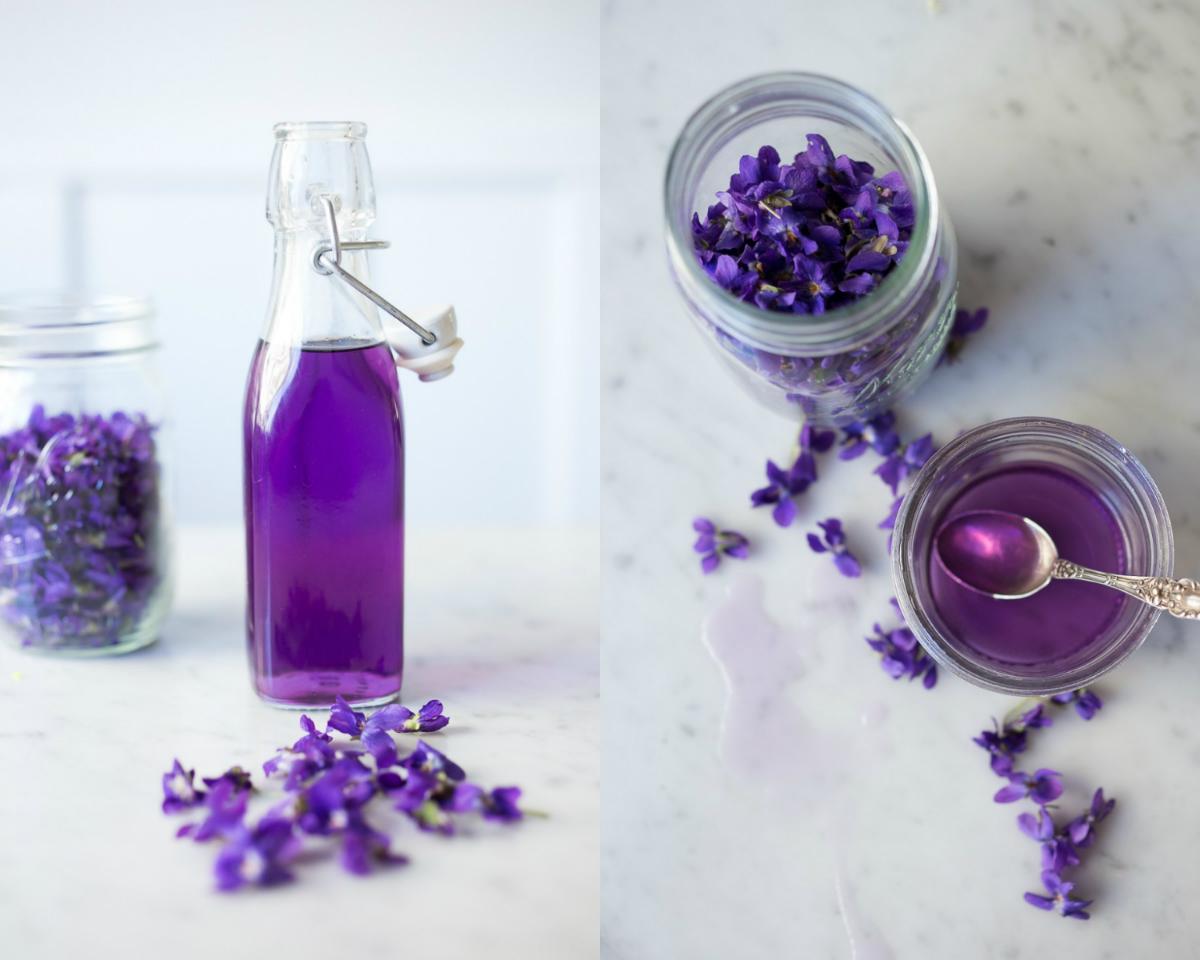 Aprenda como fazer um delicioso refrigerante com flores de violeta