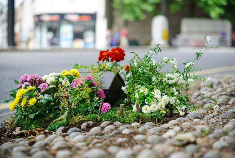 Inglês cria lindos jardins em buracos pelas ruas