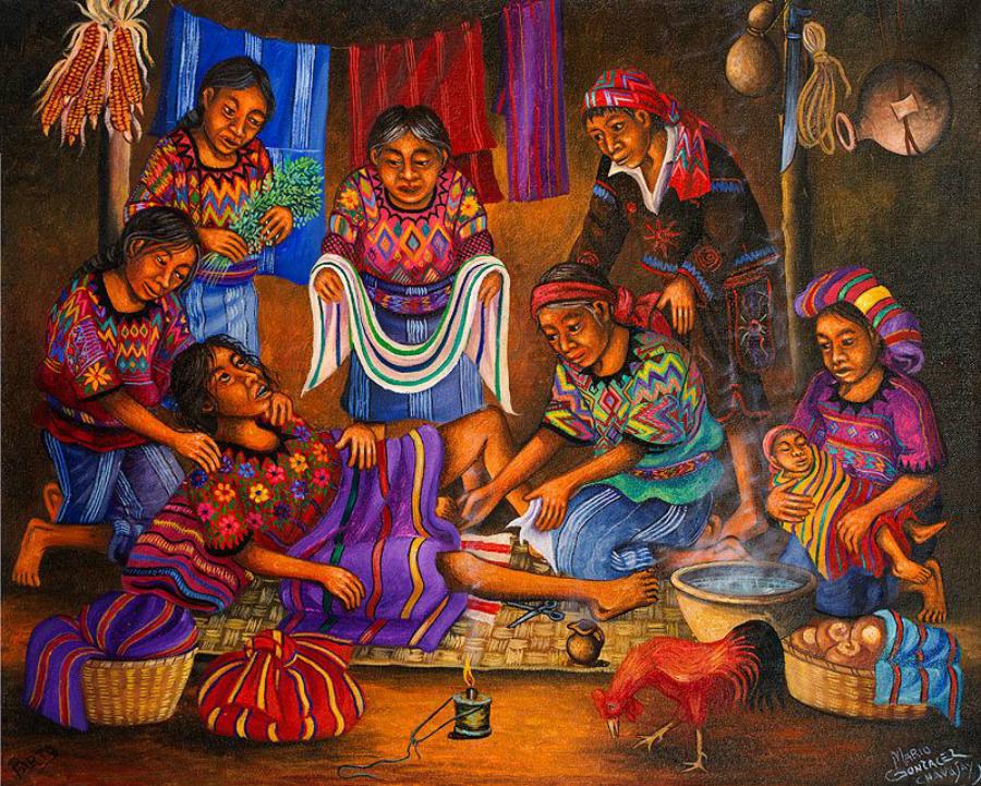 O parto das índias: um ritual de vida