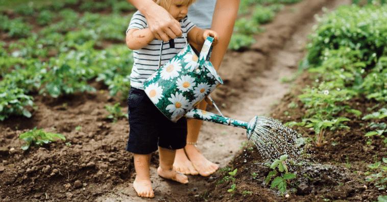 Por que devemos jardinar com as crianças