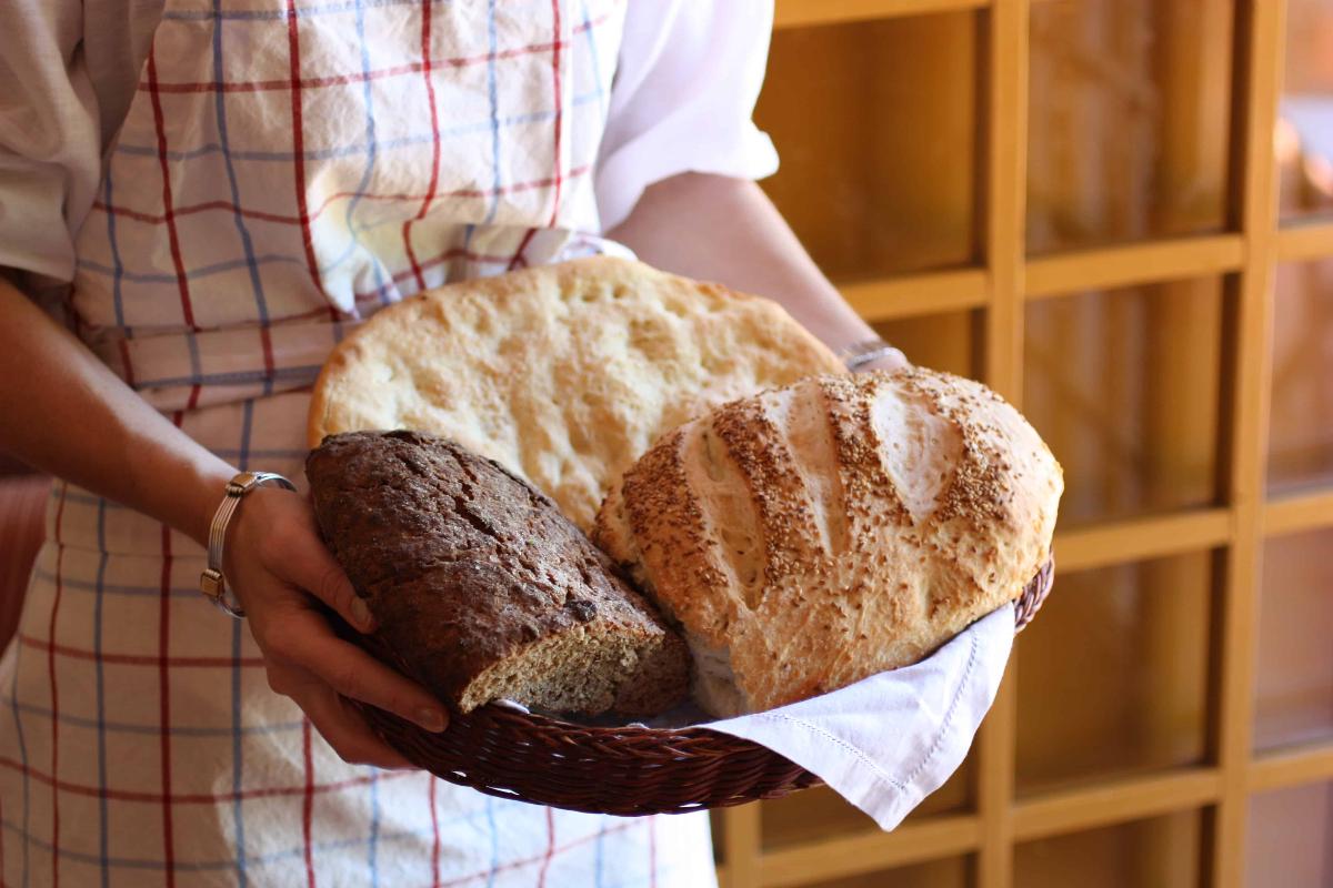 3 pães sem forno